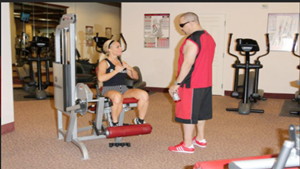 ICE T AND COCO IN THE GYM WORKING OFF SOME STRESS